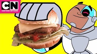 Teen Titans GO! | The Burger vs. Burrito Song | Cartoon Network