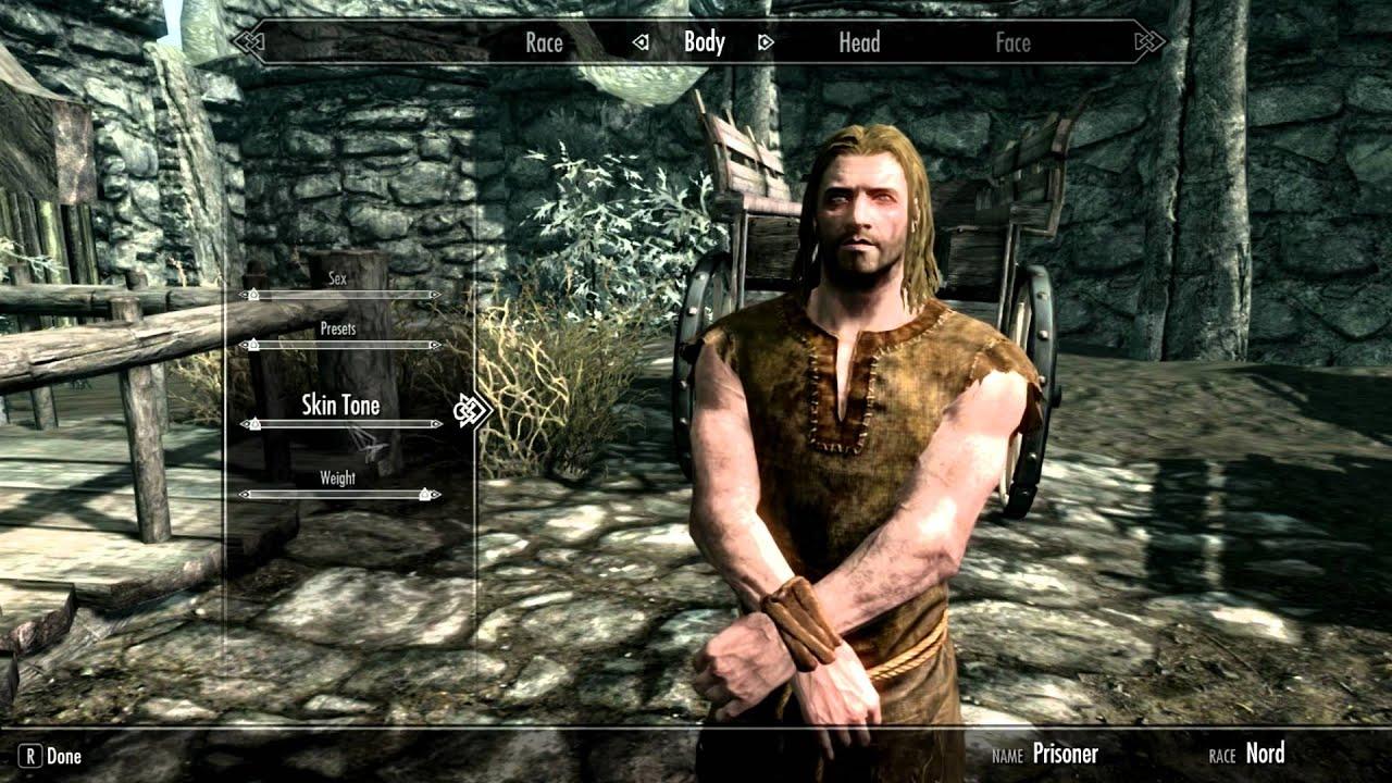 The Elder Scrolls V: Skyrim - Creating a Nord - YouTube