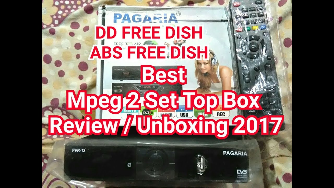 set top box review 2018 / unboxing Pagaria Best Mpeg 2 Set Top Box with  Recording 2018