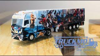 Heide Logistik MAN TGX XXL Euro 6c Kühlkoffer-Sattelzug 121996 Herpa