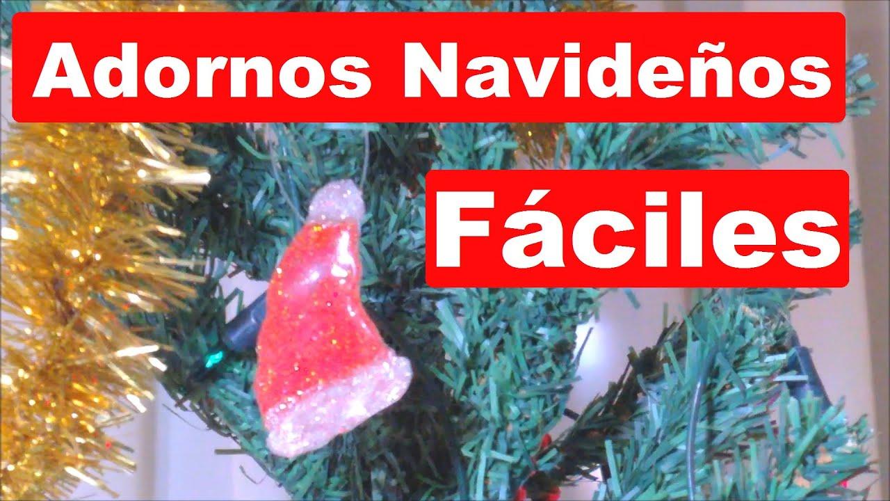 Como hacer adornos navide os caseros muy f ciles youtube - Como realizar adornos navidenos ...