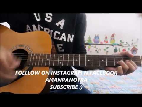 Mere Rashke Qamar - Baadshaho - Guitar Cover Lesson Chords Tutorial - Ajay Devgn , Illena