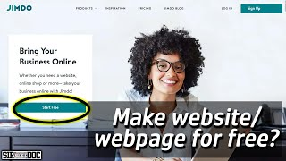 How to Create Website/Webpage f๐r Free   Jimdo