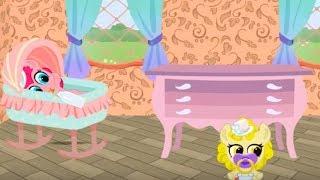 Новая мебель в доме карманной пони. Наводим красоту и уют. Мультик игра для детей.