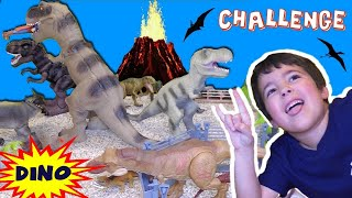Building JURASSIC WORLD Fallen Kingdom CHALLENGE! Dinosaur Toys | Kids vs Dad (Rich)