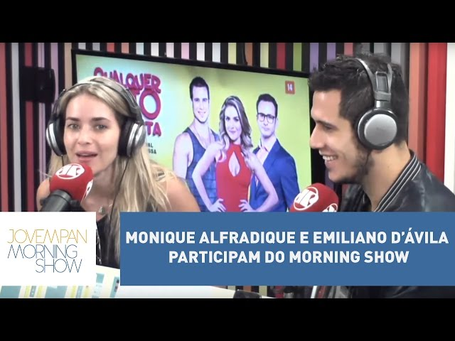 Monique Alfradique e Emiliano D'Ávila participam do Morning Show l Morning Show