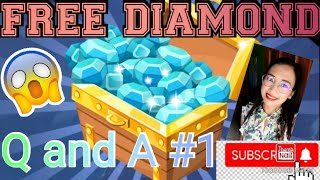 FREE DIAMONDS Q and A #1 MOBILE LEGENDS