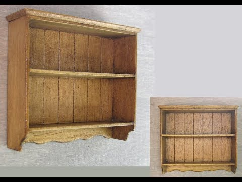 1 12th Scale Cottage Style Wall Shelf Tutorial
