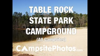 Table Rock State Pąrk Campground, SC