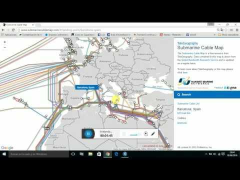 Cableado Submarino de Telecomunicaciones España-Italia-UK