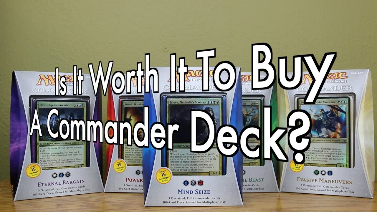 Mtg is it worth it to buy a commander deck magic the gathering mtg is it worth it to buy a commander deck magic the gathering youtube ccuart Gallery
