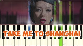 :John Hughes & Íse Downes: Take me to Shanghai |The wasted times OST| (Piano Tutorial Synthesia)