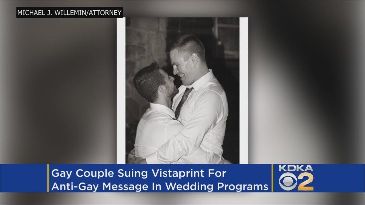 Vistaprint Wedding Programs.Gay Couple Suing Vistaprint After Receiving Hateful Satan Pamphlets Instead Of Wedding Programs