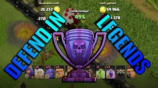 DEFEND in LEGENDS LEAGUE in Clash of Clans (Not Clickbait) | 41 Cup Victory in Legends!