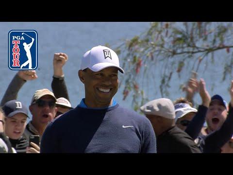 Tiger Woods drops 71-foot birdie putt at Arnold Palmer