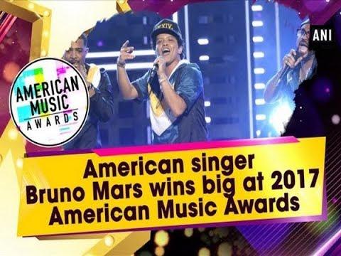 American singer Bruno Mars wins big at 2017 American Music Awards - Hollywood News