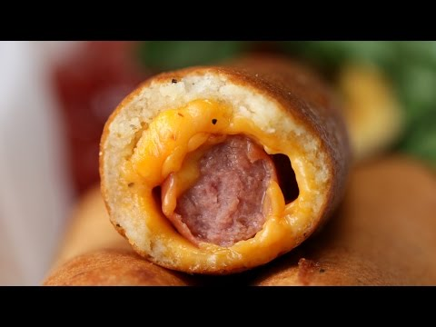 Thumbnail: Cheesy Fried Hot Dogs