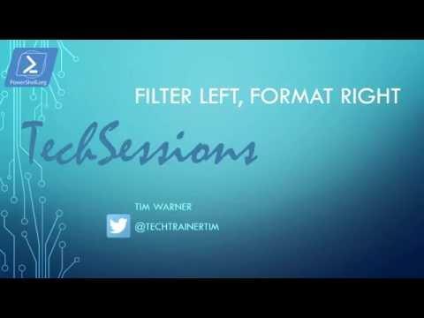 Windows PowerShell Gotcha - Filter Left, Format Right