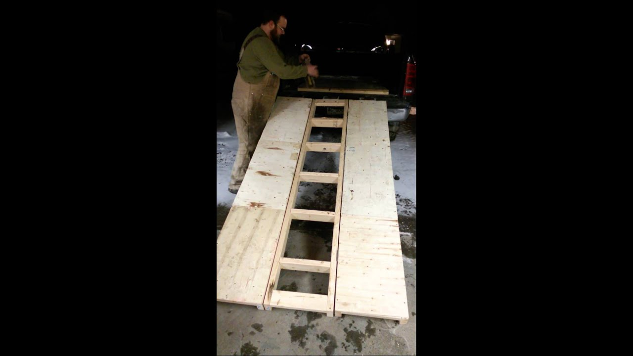 Motorcycle Loading Ramp >> Tri-fold wood ramp - YouTube