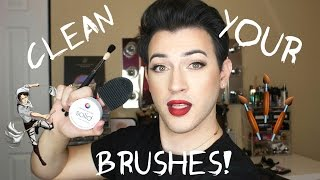 How to Clean and Dry your Eye Brushes | MannyMua