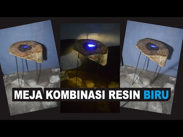 DIY. Cara Membuat Meja Kayu Kombinasi Resin Biru | Resin Art