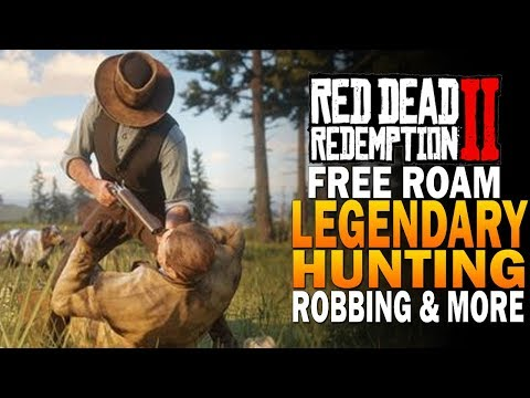 Free Roam Gameplay - Legendary Hunting, Robbing & More! Red Dead Redemption 2 [RDR2]