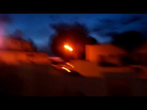 A vista bonita de castro marine vídeo de noite especial