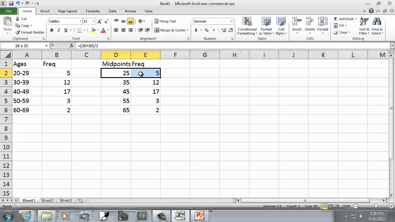 how to draw a frequency polygon excel