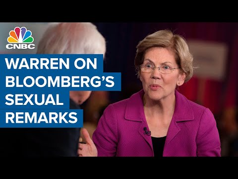 Warren goes after Bloomberg over sexist comments and non-disclosure agreements