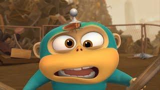 Alien Monkeys 🐵 Raindrop - Office - Cockroach - Animation for Kids