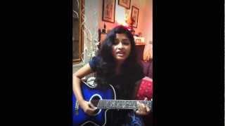 Kailash Kher-Teri deewani(Kailasa) acoustic cover by Sravani :)