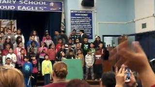 Donatello, 3rd grade Recorder Show at Amestoy Elementary