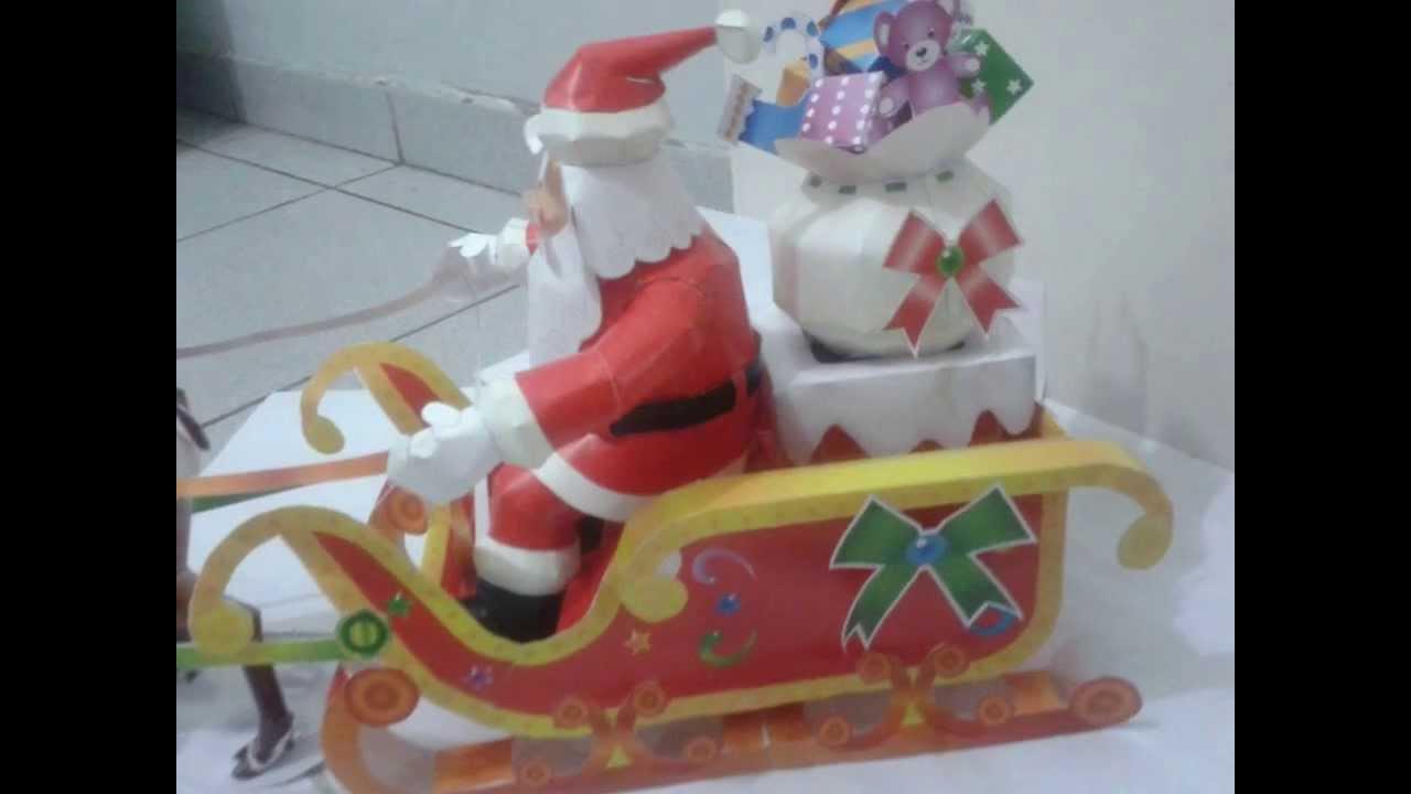 Papai Noel Feito Em Papercraft    Santa Claus Papercraft