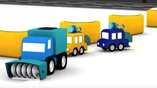 Мультики для детей: #4МАШИНКИ. Игры со снегом и снегоуборочная машина. Развивающее видео для детей(Мультики для детей: #4МАШИНКИ. Сегодня 4 машинки встречают снегоуборочную машину! Игры со снегом и уборка..., 2017-01-26T14:49:25.000Z)