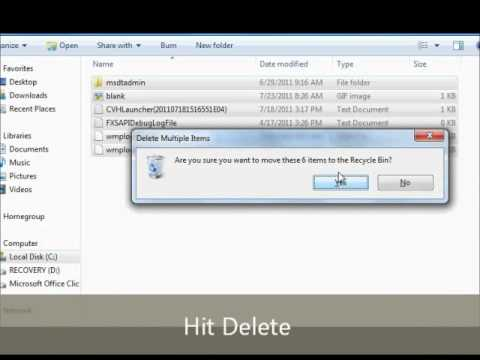 How to Free Up Disk Space Tutorial (Removing Temporary Files)