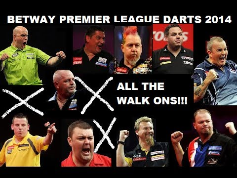 Betway Premier League Darts 2014 All The Walk On´s