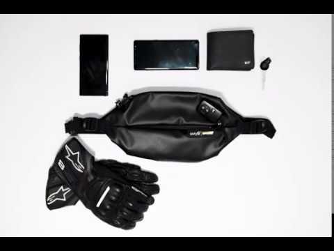 Húmeda RFID Water Resistant waist bag by sixty6degrees