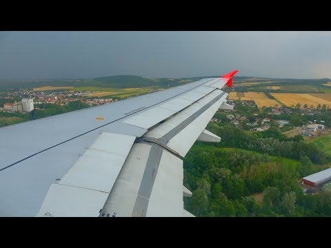 Austrian Airlines Airbus A320-200 RAINY Landing + Taxi at Vienna Airport (VIE)