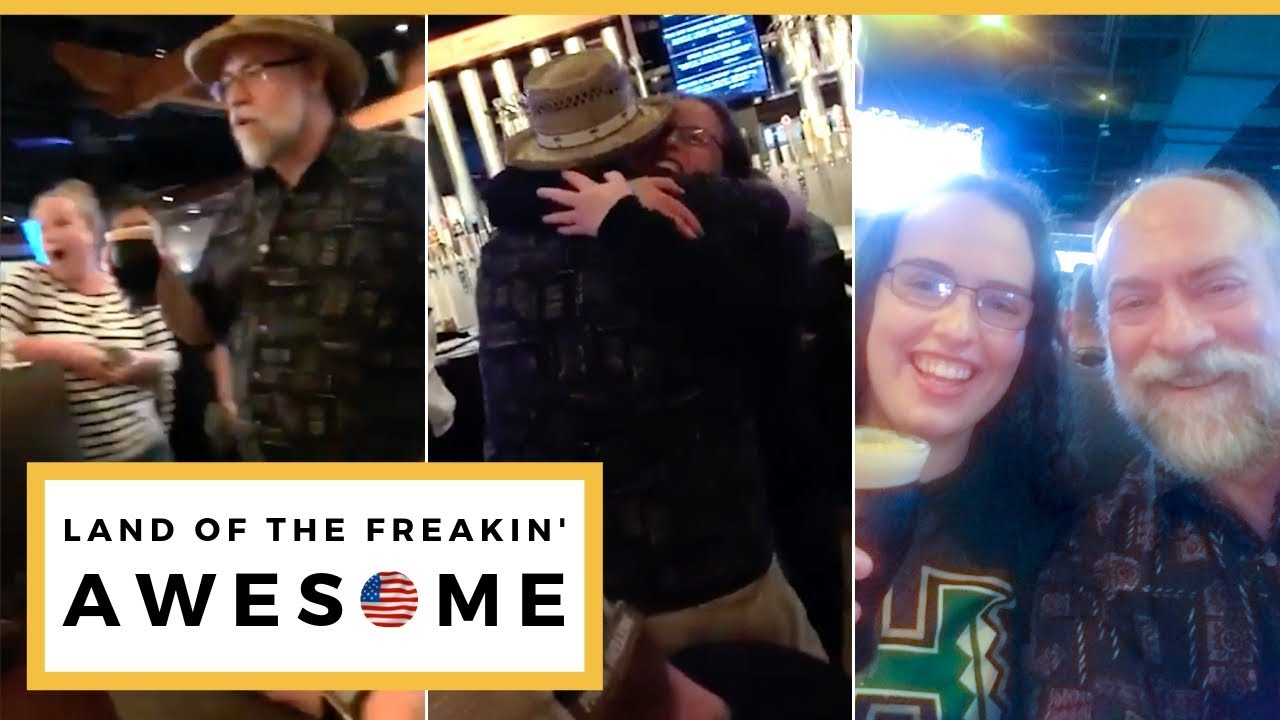 Dad Travels 3000 Miles To Surprise Navy Daughter With First Pint For 21st Birthday