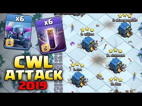 CWL Attack 2019! 6 Max Pekka 6 Max Bat Spell Smashing 3Star Max TH12 Base (Updated) | Clash Of Clans