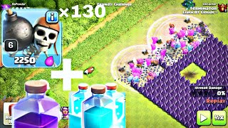 ALL WALL BREAKERS VS TH9 TROLL BASE (clash of clans)