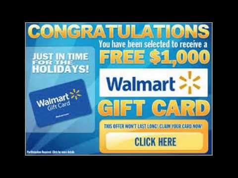 $1,000 Walmart Gift Card