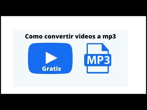 Como CONVERTIR VÍDEOS a MP3   Convertidor gratuito y rápido de vídeos   FUNCIONANDO