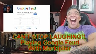 CAN'T STOP LAUGHING!!   Google Feud with Markiplier REACTION!!!
