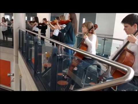 Flashmob at Cardiff Central Library