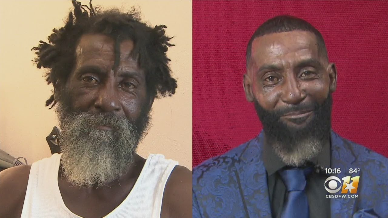 Black Dallas Homeless Man Gets A Make Over For Father's Day