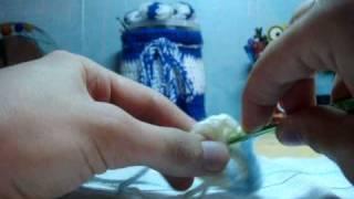 вязание крючком-Анютины глазки-2