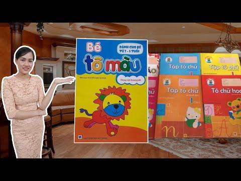 Review Bộ vở tập tô màu, tô chữ, tô số cho trẻ 3-5 tuổi   Hướng dẫn mẹ cách chọn vở tập tô tập viết