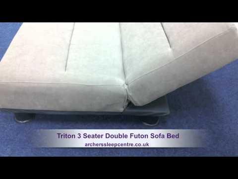 Triton 3 Seater Double Futon Sofa Bed