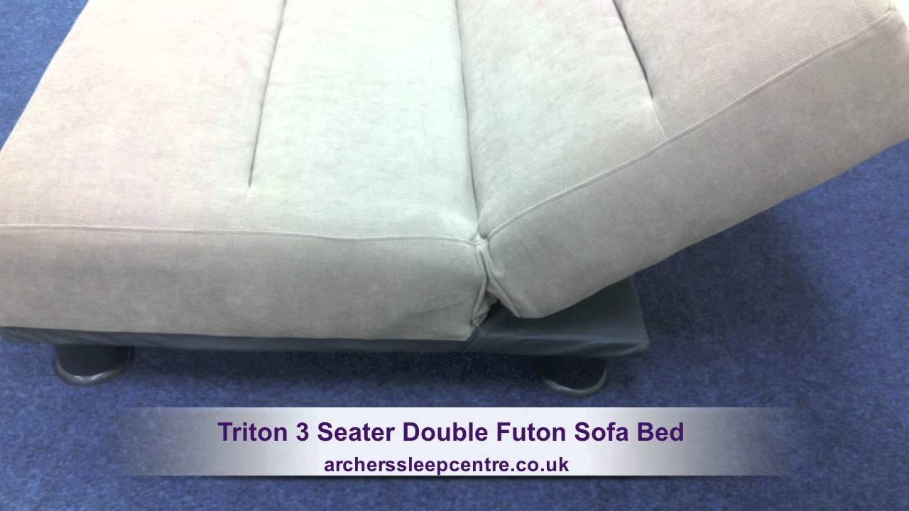Double Futon Beds Uk Triton 3 Seater Double Futon Sofa Bed